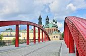 Archcathedral Basilica of St. Peter and St. Paul and Bishop's Jordan Bridge , Poznan, Poland