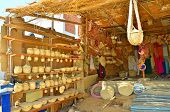 picture of nubian  - Souvenir stand in Nubian village - JPG