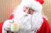 Santa Claus. A nice Santa Claus Portrait. Santa poses for his annual Christmas Holiday Portrait. Sig poster
