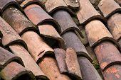 Roof tiles details