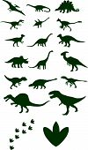 picture of apatosaurus  - different  dinosaur on white background vector selection - JPG