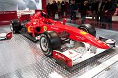 BOLOGNA, ITALY - DECEMBER 8: Ferrari shows a Formula 1 car on December 8, 2010 at the Motorshow in Bologna, Italy. Ferrari is the finest motor company in Italy.