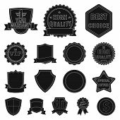 Isolated Object Of Emblem And Badge Symbol. Collection Of Emblem And Sticker Vector Icon For Stock. poster