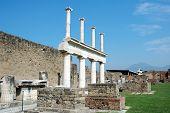 Columns And Vesuvius