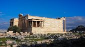The Erechtheum. Temple With Famous Caryatids On Acropolis Hill. poster