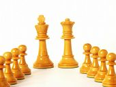 chess game on white background.