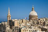 stock photo of carmelite  - A cityscape of Valletta the capital of Malta - JPG