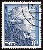 Postage stamp GDR 1974 Immanuel Kant, Philosopher