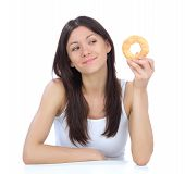 Woman Enjoy Sweet Donut
