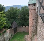 Courtyard Of The Haut-koenigsbourg Castle