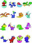 foto of dinosaur-eggs  - megaset of 16 cute and colorful baby dinos - JPG