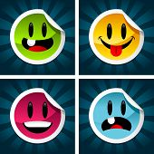 Smiling Colorful Stickers