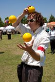 Juggler Entertains At Outdoor Arts Festival