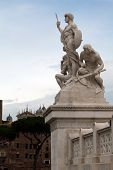 National Monument To Victor Emmanuel Ii In Rome, Italy