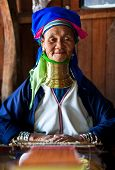 Padaung tribe woman