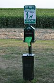 picture of pooper  - Dog Waste Stand for Pet Animal Walkers - JPG