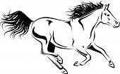 Galopping Horse Brushstroke.eps