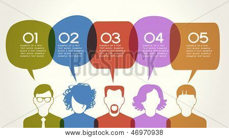 People Chatting. Vector illustration of a communication concept, relating to feedback, reviews and d poster