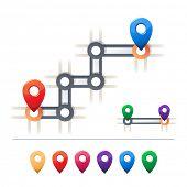 Iconos de destino y mapa
