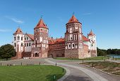 MIR, GRODNO REGION, BELARUS - AUGUST 29: View to the Mir Castle Complex in Mir, Grodno district, Bel