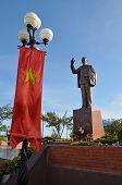 Statue of Ho Chi Minh communist leader in Vietnam