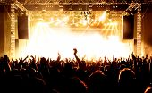 stock photo of rocking  - Rock concert - JPG