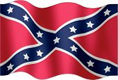 stock photo of confederate flag  - Illustration of a flag confederated to the wind - JPG