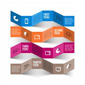 Abstract modern devices infographics template. Vector.