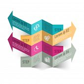Modern business process infographics template. Vector.