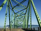 image of mear  - Beautiful The Astoria bridge and road near cannon beach - JPG