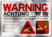 Krokodil Warning Sign Australien