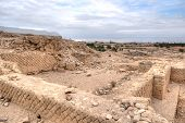 stock photo of jericho  - Excavations near Jericho city of ancient palace - JPG