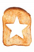 toasted bread with star shape