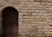 Metal Door In Medieval Castle poster