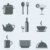 Vector illustration of icons utensils