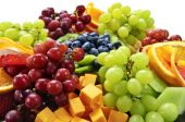 foto of fruit platter  - Platter of assorted fresh fruit and cheese - JPG