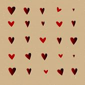 Seamless  pattern with hearts. Vector repeating texture