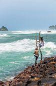 Traditional Sri Lankan Fishermen