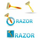 vector razorz icon isolated on white