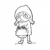 foto of little red riding hood  - little red riding hood cartoon - JPG