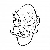 cartoon evil old man face