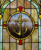 Stained Glass Window: Anchor Image