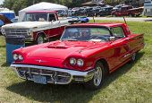 1960 Red Ford Thunderbird Hardtop Convertible