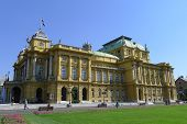 Croatian National Theatre In Zagreb