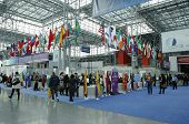 Registration area at the Greater New York  Dental Meeting at Javits Center