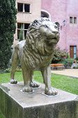 The lion at the Place de la Basoche in Vieux Lyon, France