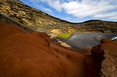 In El Golfo Lanzarote Spain Musk Pond Rock