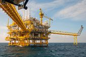 picture of platform shoes  - Oil and gas platform in the gulf or the sea - JPG
