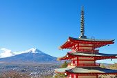 Mountain Fuji in autumn season