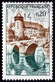 Postage Stamp France 1962 Chateau And Bridge, Laval